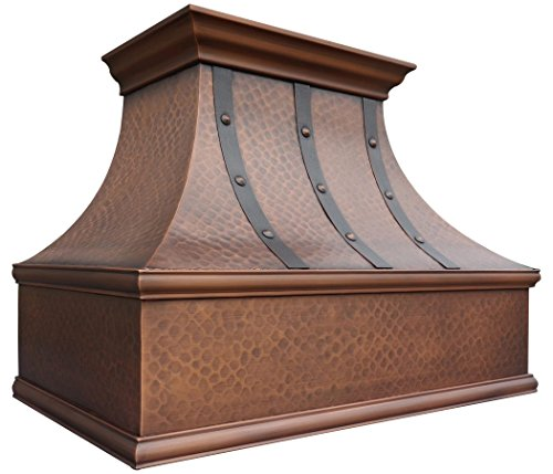 Copper Range Hood With Stainless Steel Vent Sinda H7ltr