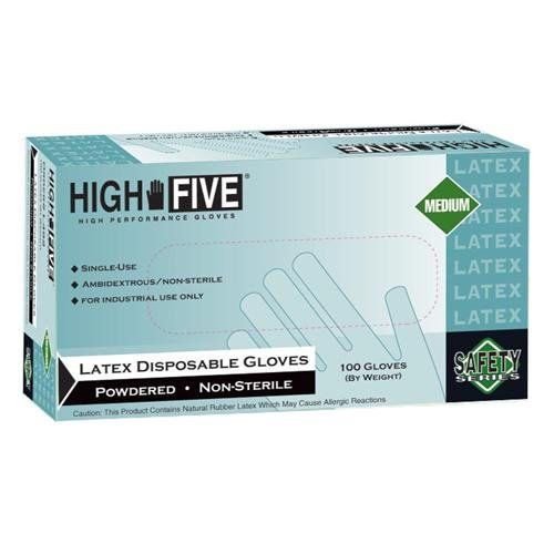 High Five Gloves Latex Gloves, Pow, GP, XL,100/pk,1000/cs - HFG by High Five