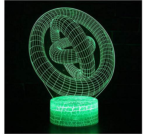 Nuevo pájaro en jaula Modelo 3D LED Luz nocturna 7 colores 5V USB ...