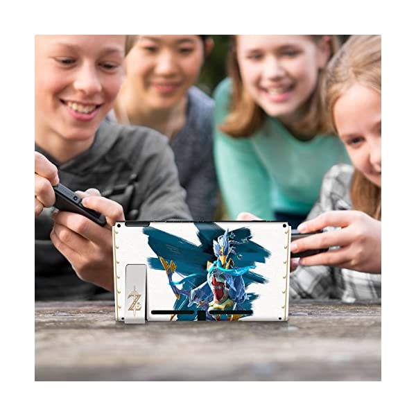 """Controller Gear Nintendo Switch Skin & Screen Protector Set Officially Licensed By Nintendo - The Legend of Zelda: Breath of the Wild: """"Revali White Pattern"""" - Nintendo Switch 9"""