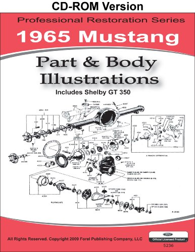(1965 Mustang Part and Body Illustrations)