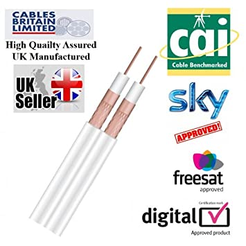 Cables Britain Limited-Cable coaxial para fusil doble de caza, SKY HD DIGITAL WF63
