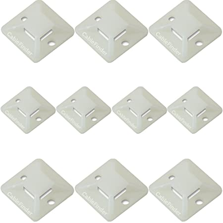bcd5bd8adcf0 100x - Natural Plastic Cable Tie Bases -28x5mm- Sticky Back Adhesive Mount  Clips: Amazon.co.uk: DIY & Tools