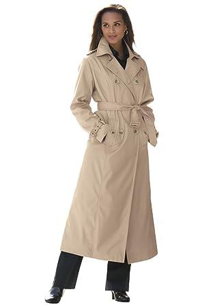 Amazon.com: Jessica London Women&39s Plus Size Long Trench Coat