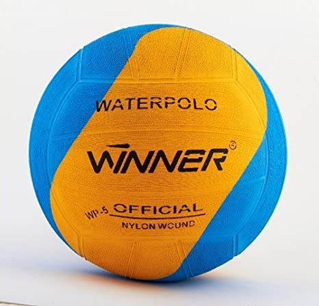 Winner – Balón de waterpolo. Blue-Yellow Swirl Diseño. Tamaño 5 ...