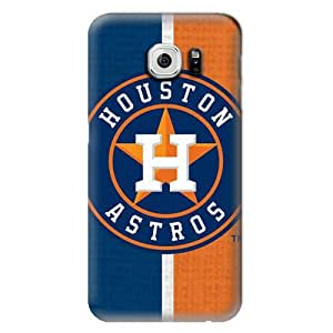S6 Case, MLB - Houston Astros Split - Samsung Galaxy S6 Case - High Quality PC Case