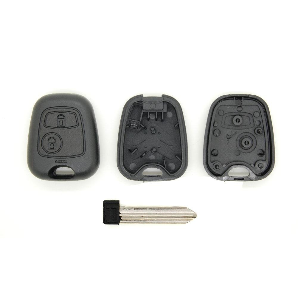 Remote Control Key Fob Case for Citroen Xsara Picasso Berlingo Locking System With Blade and Interlocking Plastic Hook