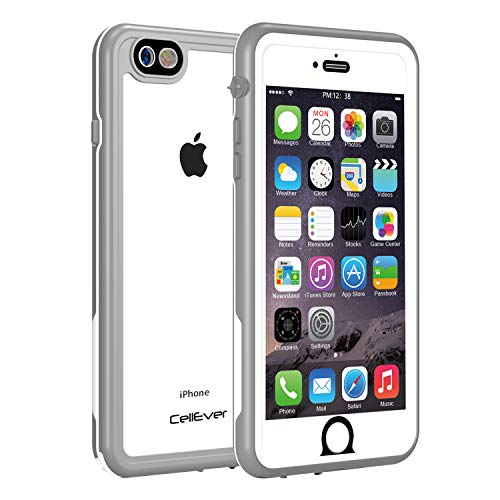 CellEver iPhone 6 Plus Case Waterproof Shockproof IP68 Certified SandProof SnowProof Full Body Protective Cover Fits Apple iPhone 6 Plus (5.5) - KZ Gray/Clear