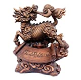 GL&G Lucky Kirin Ornaments Home living room office Tabletop Scenes Resin Crafts Sculptures Statues High-end Business gift Collectible,A,371639cm