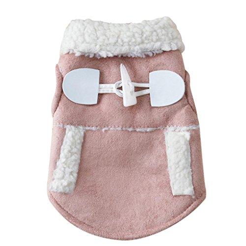 Coper Winter Pet Supplies Costume Puppy Dog Warm Coat Jacket (Khaki, S)