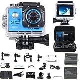 Odrvm アクションカメラ WIFI搭載 HD 1080P 水中カメラ 防水30M 2.0インチLCDスクリーン 高画質 170度広角レンズ マリンスポーツカヌー サーフィン 水上スキー 海 水遊びグッズ ウェアラブルカメラ ブルー
