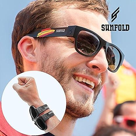 Gafas de Sol Enrollables Sunfold Mundial Spain Black: Amazon ...