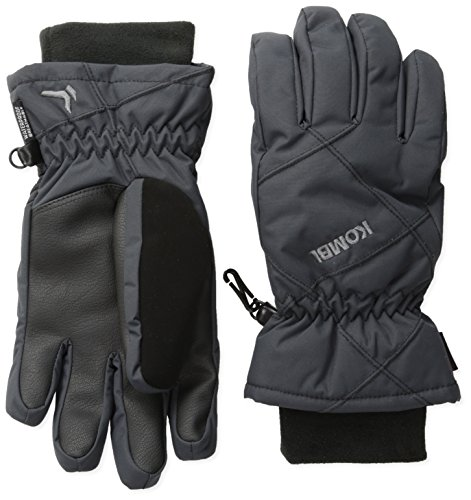Kombi Fleece Gloves - Cold Weather Gloves Women's Snug Gloves, Medium, Black