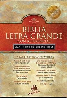 By Author RVR 1960 Biblia Letra Grande con Referencias, negro tapa dura (Spanish Edition