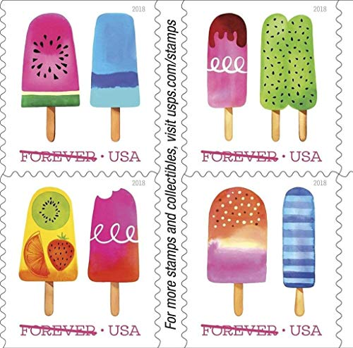 (Frozen Treats - 2018 USPS Forever First Class Postage Stamp Scratch-and-Sniff Sheets U.S. Forever 50 Cents (6 Sheets of 20 Stamps))