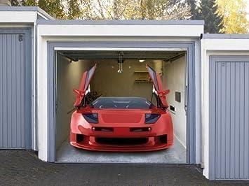 Garagentor design aufkleber  Garagentor Fotoplane Sportwagen: Amazon.de: Küche & Haushalt