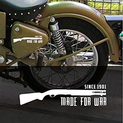 Delhitraderss made for war vinyl decal sticker for royal enfield and other bikes size
