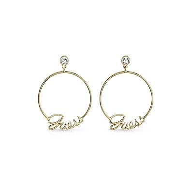 c036a0c1ee0b Pendientes para mujer Guess Hoops Dit it Again Gold UBE84042  Amazon.es   Joyería