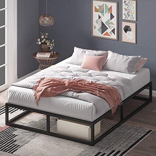Zinus Joseph 10 Inch Metal Platforma Bed Frame / Mattress Foundation / Wood Slat Support / No Box Spring Needed / Sturdy Steel Structure, Full