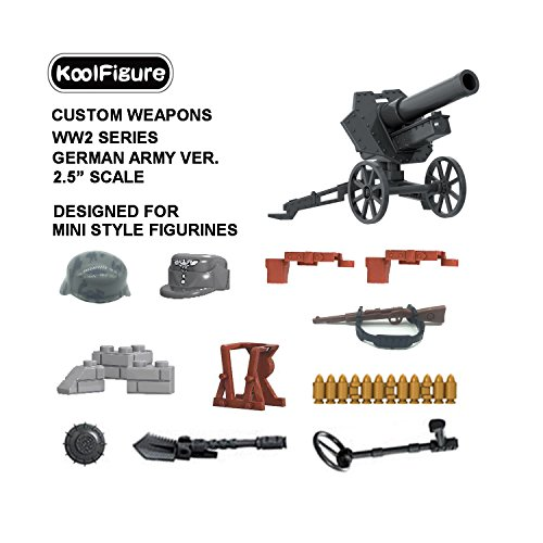 koolfigure&Trade; Custom WW2 Weapons Set Designed for Minifigures Toys, 2.5