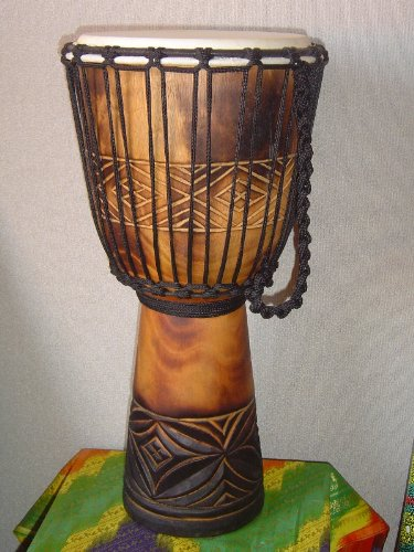 20'' X 10-11'' Deep Carved Djembe Bongo Drum with Free Cover, Model # 50m3 by madedrums