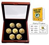 NFL Green Bay Packers Green Bay Packers 24KT Gold plated 7 Coin Super Bowl Champions Set