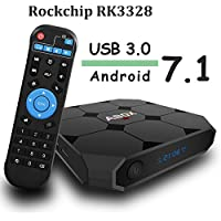 Android 7.1 TV Box, Globmall ABOX A1 Max Quad Core Smart TV Box, Unique RK3328 Chip and USB 3.0 Support True 4K Playing