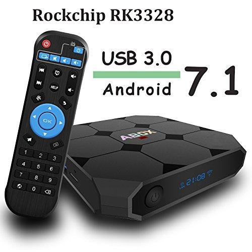 Sale!! Android 7.1 TV Box, Globmall ABOX A1 Max Quad Core Smart TV Box, Unique RK3328 Chip and USB 3...