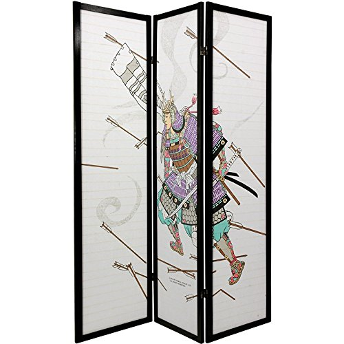 Oriental Furniture 6 ft. Tall Samurai Shoji Screen - 3 Panel