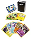 100 Pokemon Cards with 5 Holo Rares Plus Poshinzo