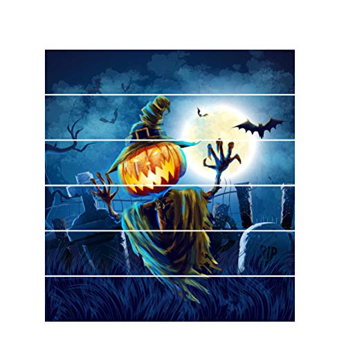 Amosfun Halloween Graveyard Wall Stickers Creative 3D DIY Wall Decoration Mural Decals Spooky Scary Mural for Home Bar Party Decoration -