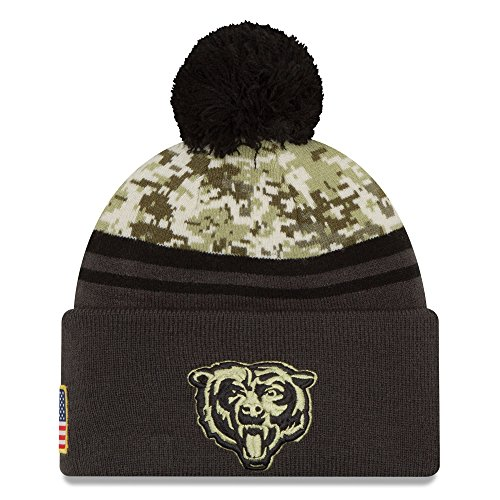 - New Era Men's NFL Chicago Bears 16 Salute to Service Knit Hat Camo Size One Size