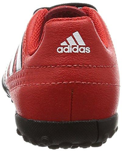 adidas ACE 17.4 TF J - Botas de fútbolpara niños, Rojo - (ROJO/FTWBLA/NEGBAS), -28