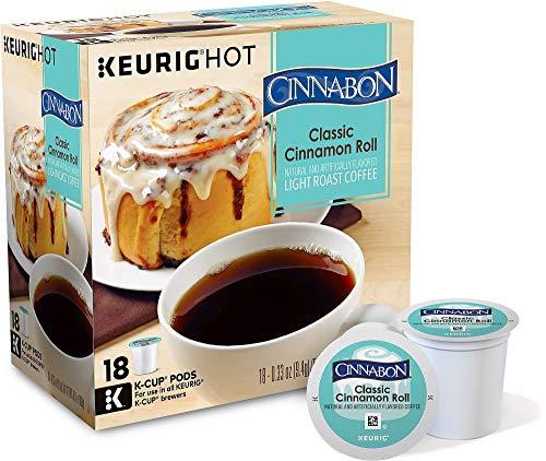 Cinnabon Classic Cinnamon Roll Coffee 18 K-Cup - 18 Count Coffee K-cups