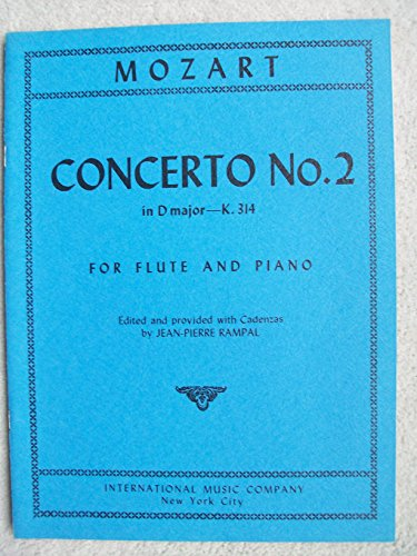 Concerto No. 2 in D Major - K. 314: For Flute and Piano