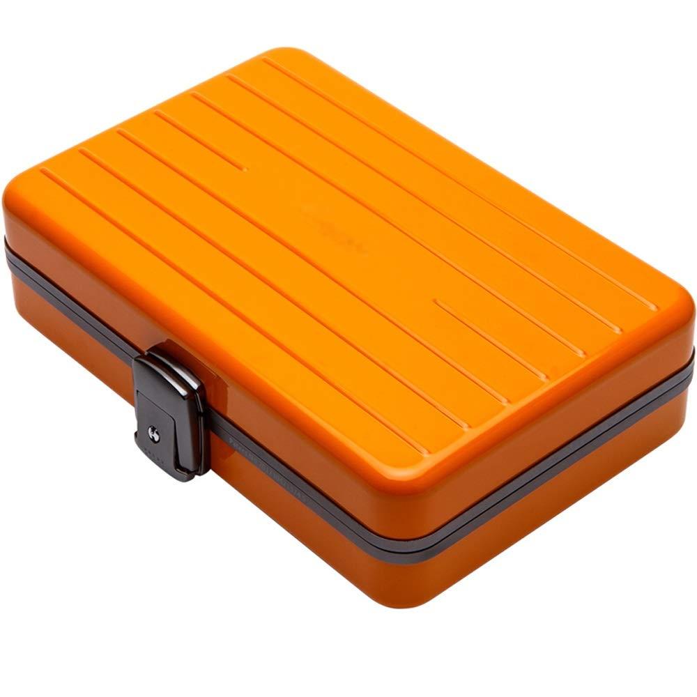 Jia He シガーボックス シガーボックス - シガーヒュミドールポータブルシダーウッドインナーアルミ製ハイシール @@ (Color : Orange) B07SN19HG5 Orange