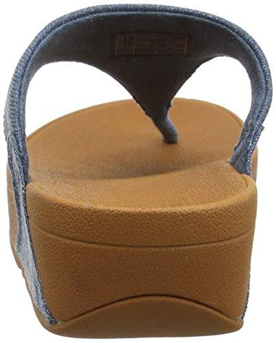 Fitflop Abierta denim Sandalias shimmer Punta 533 denim Sandals thong Mujer Toe Lulu Con Para Shimmer blue Azul rwxCqUZzrn