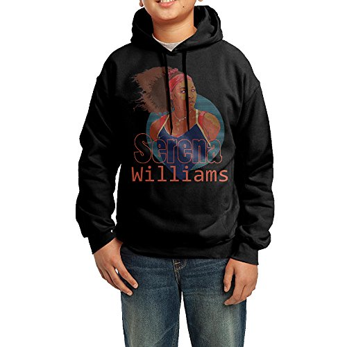 QSDFE Youth Unisex Sweatshirt Serena Tennis Williams Black Size XL