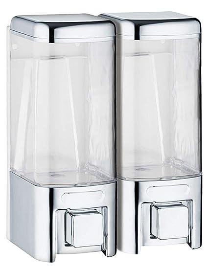 Sanlingo montaje pared doble dispensador jabón líquido cromo cuarto de baño cocina
