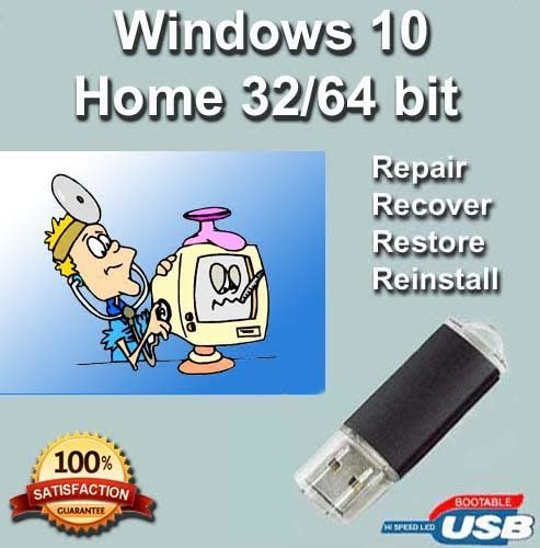Windows-10-Home-32-64-Bit-Install-Boot-Recovery-Restore-USB-Flash-Drive-Disk-Perfect-for-Install-or-Reinstall-of-Windows