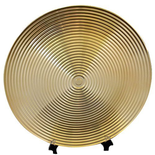 Gala Home Round Charger Plates with Gold Lines, 13 inch, set of 6