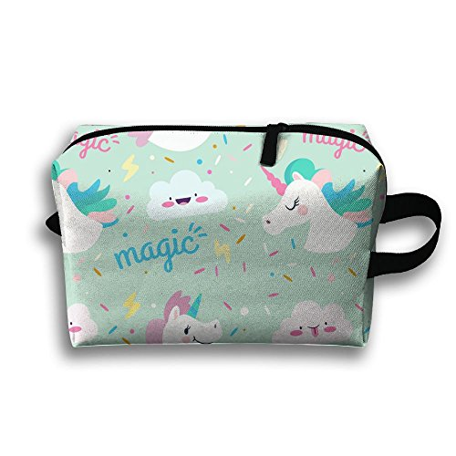 DTW1GjuY Lightweight And Waterproof Multifunction Storage Luggage Bag Paper Unicorn by DTW1GjuY