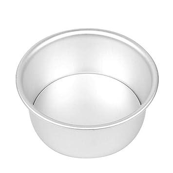 Herramienta para Hornear Pan de aleación de Aluminio Redondo de la Torta de Gasa de Queso Torta del Molde para Hornear Herramienta de Molde de la hornada ...