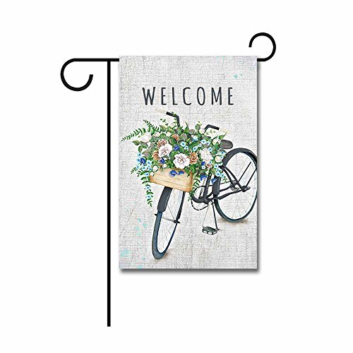 Bicycle Garden (Kafepross Welcome Bicycle With Flowers Garden Flag 12.5