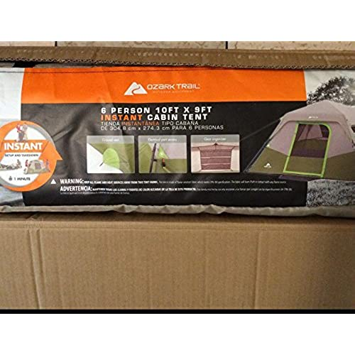 Ozark Trail 6 Person Instant Cabin Tent  sc 1 st  Amazon.com : ozark trail tents parts - memphite.com
