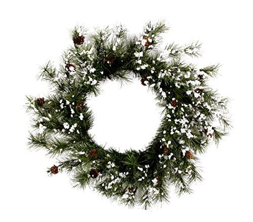 Darice Christmas Snow Pine Wreath 24 Inches