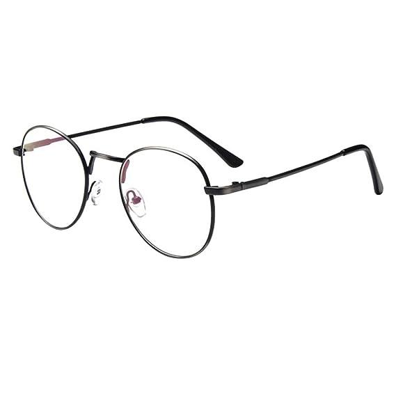 Forepin® Montura para Gafas Hombre y Mujeres Vintage Unisexo Retro del Metal Vidrios Claros de
