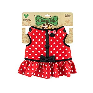 Disney Parks Minnie Mouse Costume Dog Harness Small