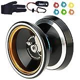MAGICYOYO Silencer M001-B Yo-yo Ball Aluminum6061 Unresponsive Yo-yo with Stainless Center Bearing and Stainless Axle (M001B Black)