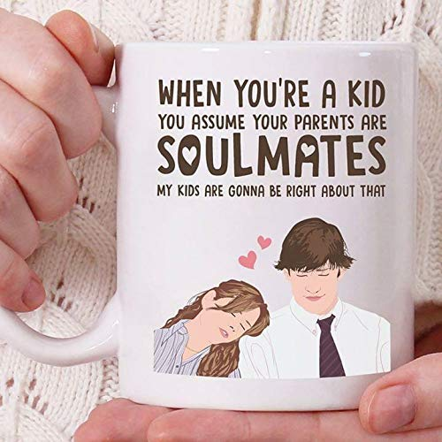 (The Office Jim And Pam I Love U White 11 oz Coffee Tea Mug Valentines')